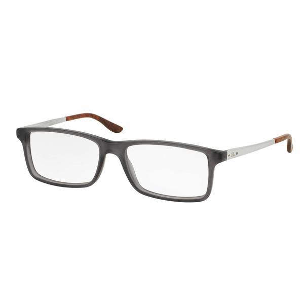 Ralph Lauren Mens RL6128 5510 Grey Plastic Rectangle Eyeglasses
