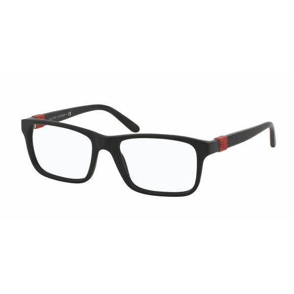 Ralph Lauren Mens RL6131 5284 Black Plastic Square Eyeglasses