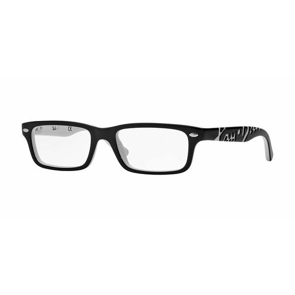 Ray Ban Mens RY1535 3579 Black Plastic Rectangle Eyeglasses