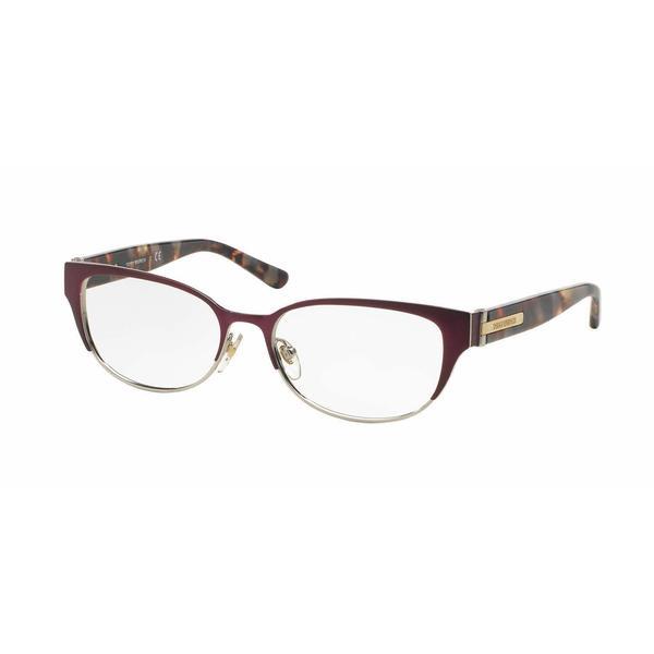 Tory Burch Womens TY1045 3125 Bordeaux Metal Cat Eye Eyeglasses