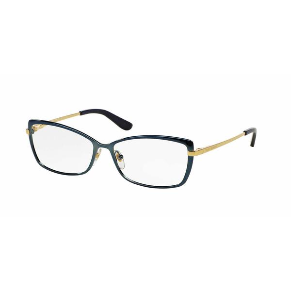 Tory Burch Womens TY1035 487 Blue Metal Rectangle Eyeglasses 22553423
