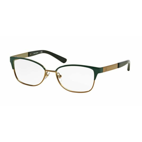 Tory Burch Womens TY1046 3143 Green Metal Rectangle Eyeglasses