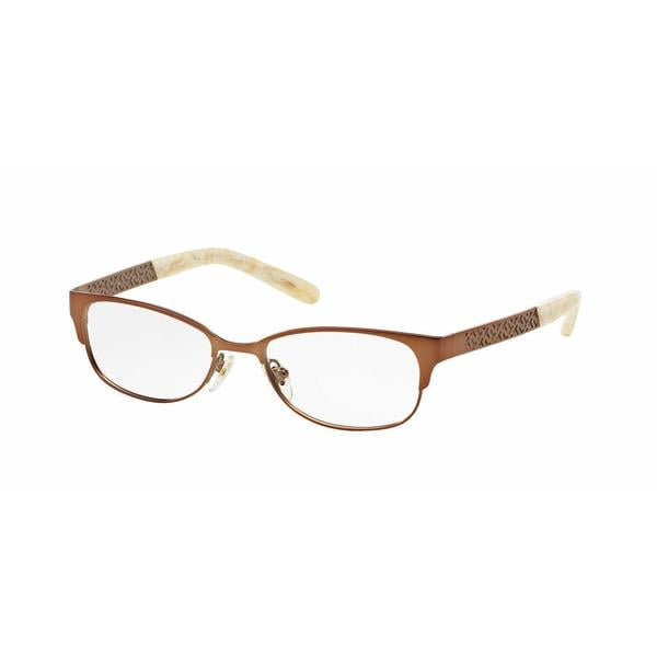 Tory Burch Womens TY1047 3141 Bronze/Copper Metal Rectangle Eyeglasses
