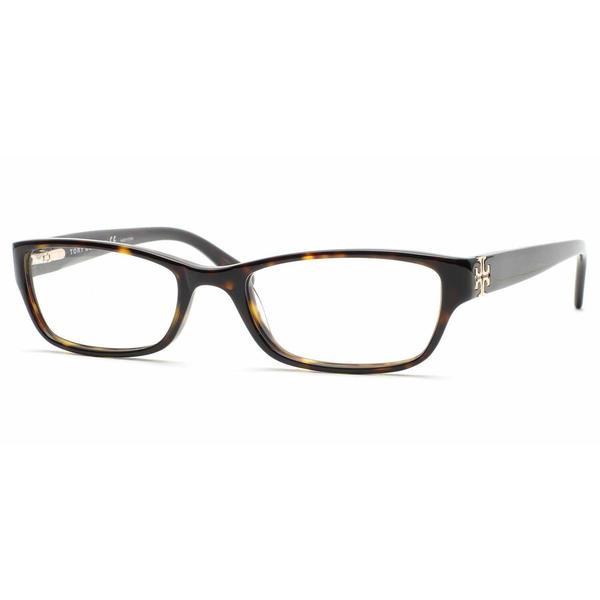 Tory Burch Womens TY2003 510 Havana Plastic Rectangle Eyeglasses 22553440