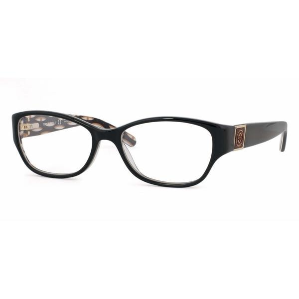 Tory Burch Womens TY2022 910 Black Plastic Rectangle Eyeglasses 22553443
