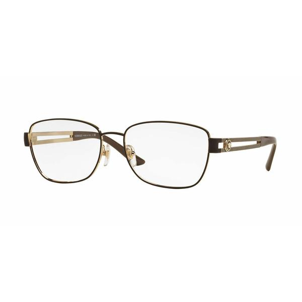 Versace Womens VE1234 1369 Grey Metal Rectangle Eyeglasses