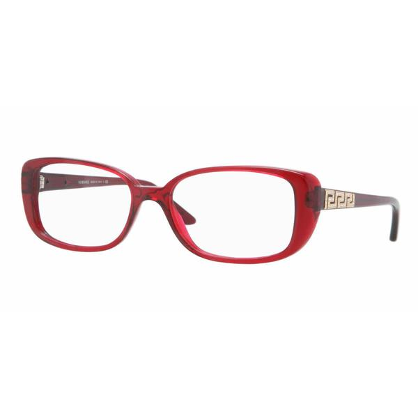 Versace Womens VE3178BA 388 Bordeaux Plastic Rectangle Eyeglasses
