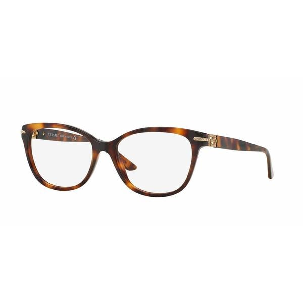 Versace Womens VE3205BA 5061 Brown Plastic Square Eyeglasses