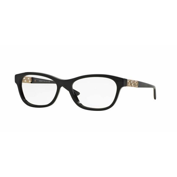 Versace Womens VE3212B GB1 Black Plastic Irregular Eyeglasses