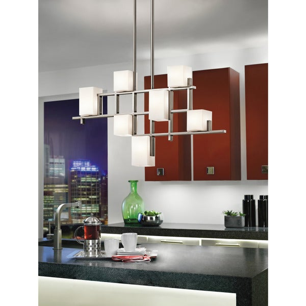 Kichler Lighting City Lights Collection 7-light Classic Pewter Halogen Linear Chandelier