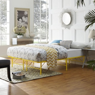 Horizon Stainless Steel Bed Frame in Yellow