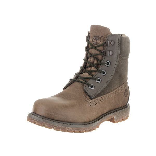 Timberland Women's Brown Leather 6-inch Premium D-ring Boot