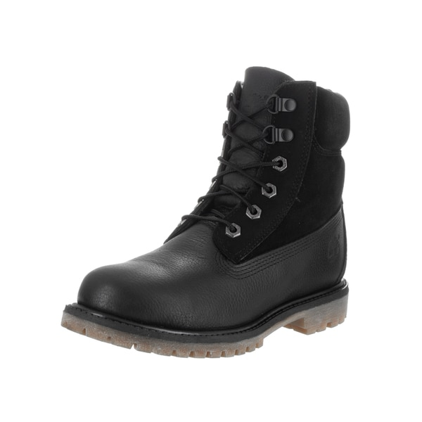 Timberland Women's Black Leather D-ring Boot
