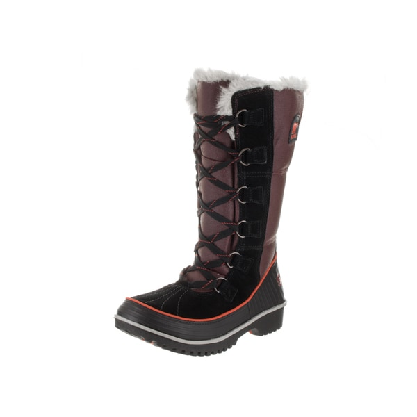 Sorel Women's Tivoli High II Red Canvas Boots