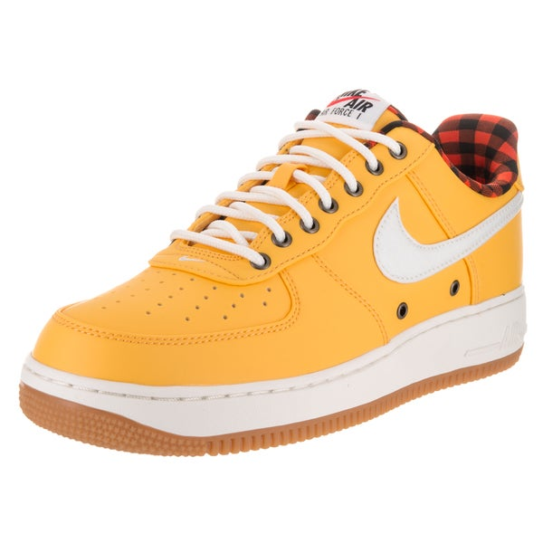 Nike Men's Air Force 1 '07 LV8 Yellow Synthetic Basketball Shoes