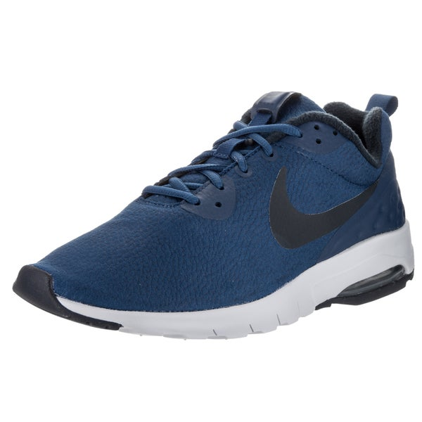 Nike Men's Air Max Motion LW Prem Blue Synthetic Leather Running Shoe