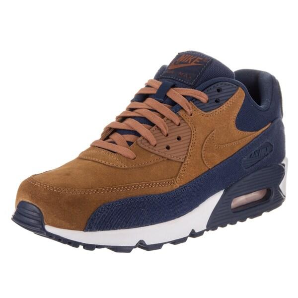 Nike Men's Air Max 90 Blue Textile Premium Running Shoe