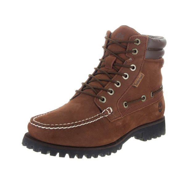 Timberland Men's 7-eye Moc Toe Brown Nubuck Boots