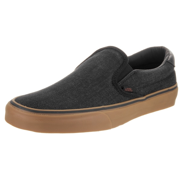 Vans Unisex Slip-On 59 Black Denim and Canvas Skate Shoes