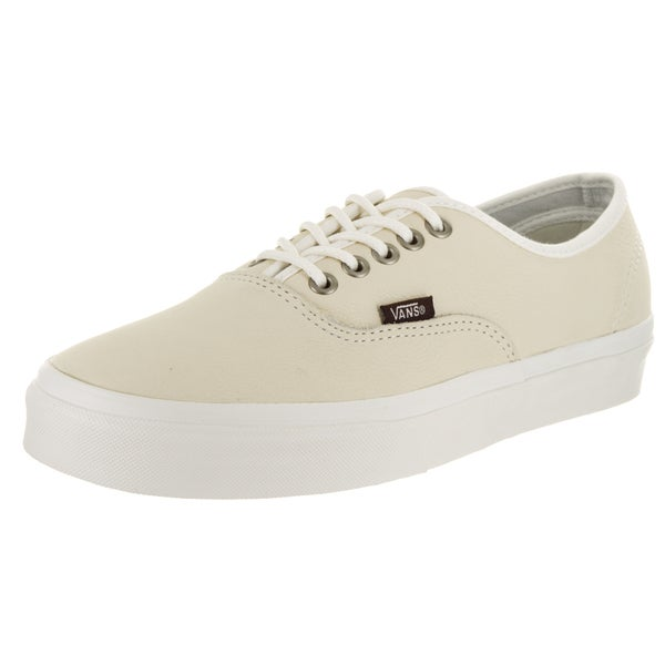 Vans Unisex Authentic White Leather Skate Shoe