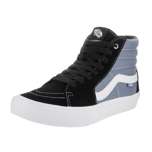 Vans Men's Sk8-Hi Pro Black and Grey Suede Skate Shoes