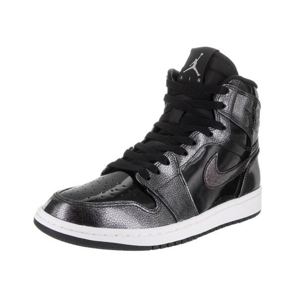 Nike Jordan Men's Air Jordan 1 Black Patent Leather Retro High Basketball Shoe