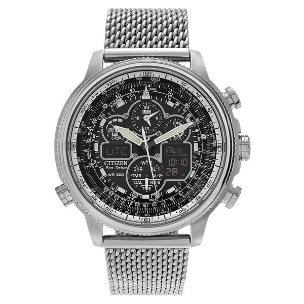 Citizen Men's 'Eco-Drive' JY8030-83E Stainless Steel Chronograph Mesh Bracelet Watch