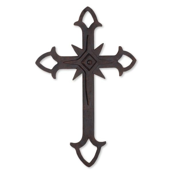 Wrought Iron Cross, 'Confession of Faith' (Guatemala)
