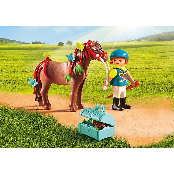 PlayMobil Multicolor Plastic Groomer With Butterfly Pony 22565185