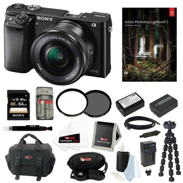 Sony Alpha a6000 24.3 Lens Camera w/ 16-50mm Power Zoom Lens Essential Bundle