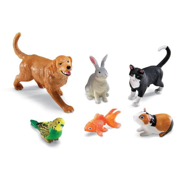 Learning Resources Plastic Jumbo Pet Figurines (Pack of 6) 22566109
