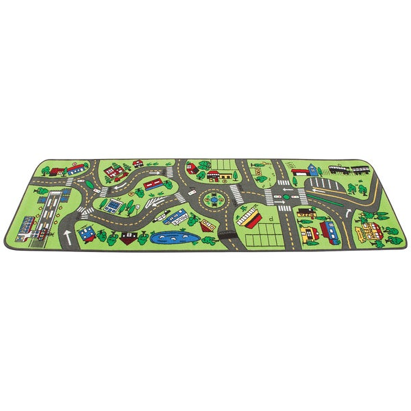 Learning Carpets Nylon 80-inch-long x 27-inch-wide Giant Road Carpet