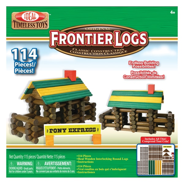 Poof Products Inc.-Slinky 114-piece Frontier Logs Set 22566771