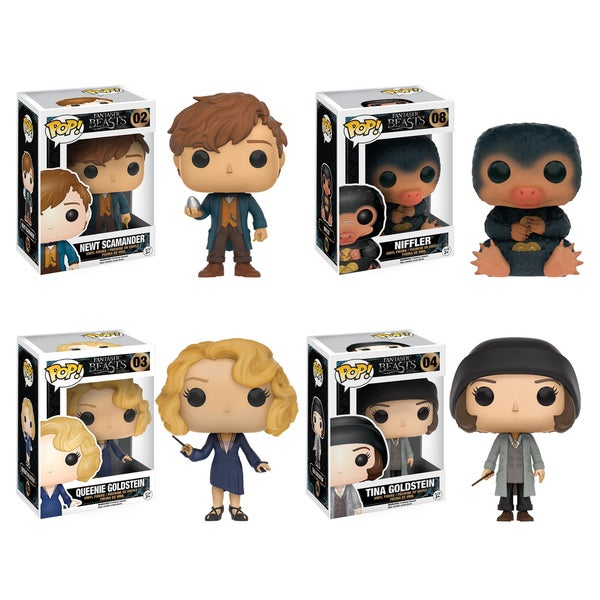 Funko POP! Movies 'Fantastic Beasts' Collectors Set with Newt, Niffler, Queenie, and Tina