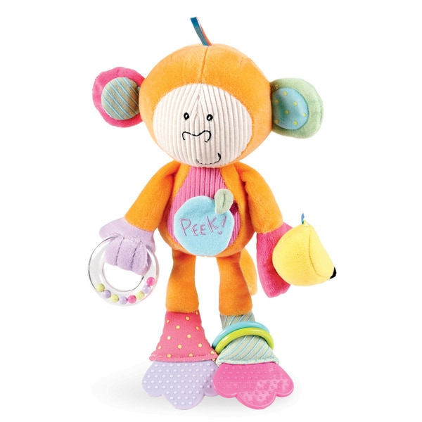 Manhattan Toy Fabric Monkey Peek-Squeak Activity Toy 22569558