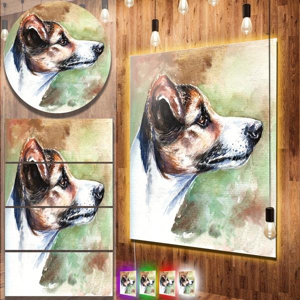 Designart 'Jack Russell Terrier' Animal Aluminium Wall Decor