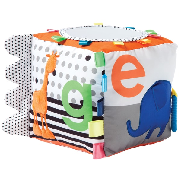 Manhattan Toy Multicolor Fabric Soft Baby Activity Cube 22569723