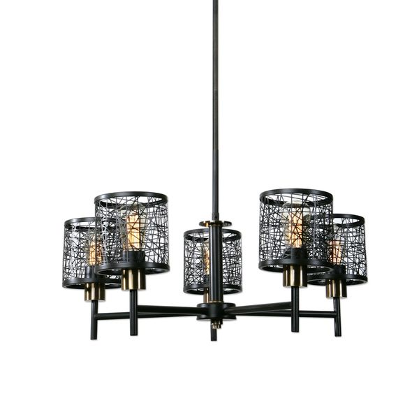 Uttermost ThinAlita 5 Light Bronze Chandelier 22570943