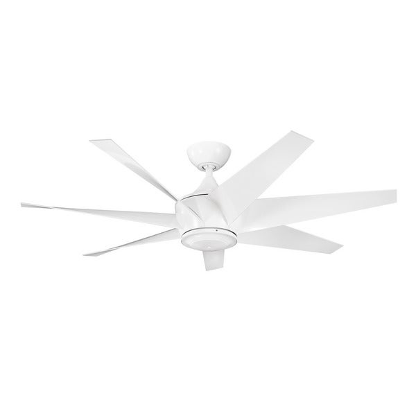 Kichler Lighting Lehr II Collection 54-inch White Ceiling Fan