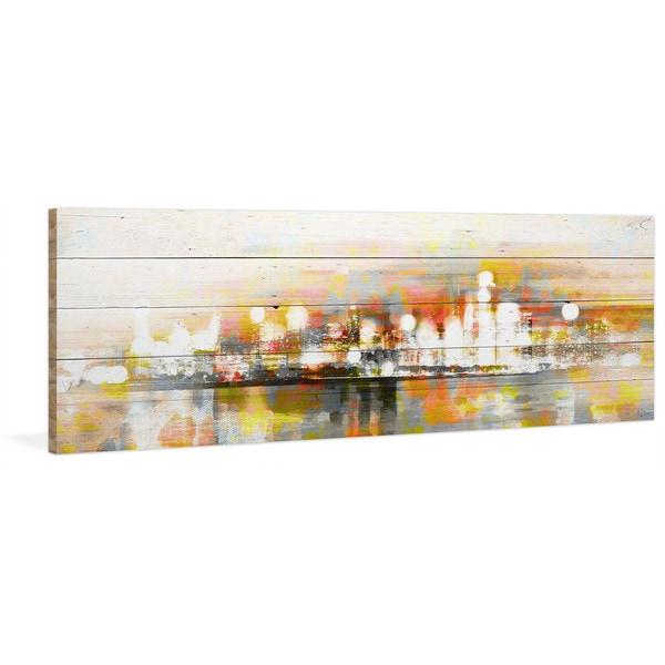 Parvez Taj - 'Hong Kong' Painting Print on Reclaimed Wood 22572691