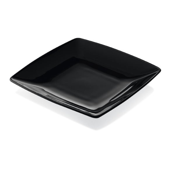 Majestic Gifts Quality Black Glass 6-inch x 6-inch Plates 22574169