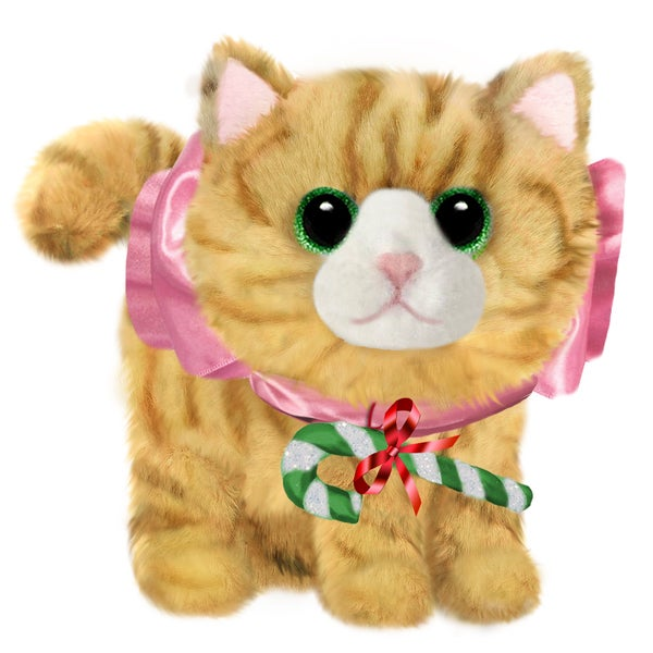 "Cat 7"" Blonde Christmas Plush Fluffies"