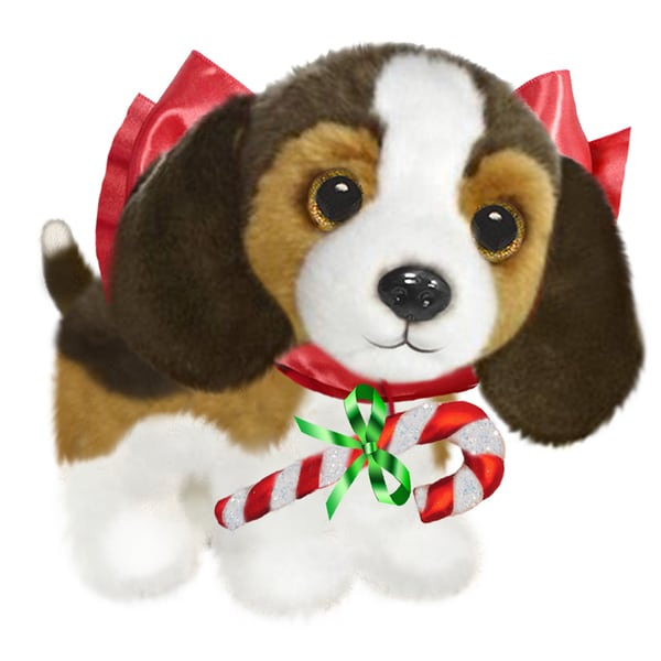 "Dog 7"" Christmas Plush Wuffles Beagle"