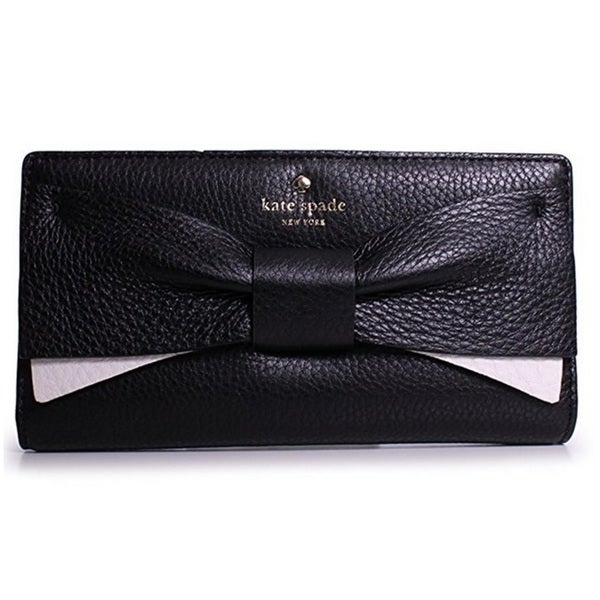 Kate Spade Eden Lane Bow Stacy Black Bifold Wallet