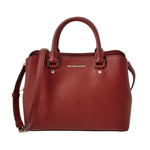 Michael Kors Savannah Medium Brick Satchel Handbag