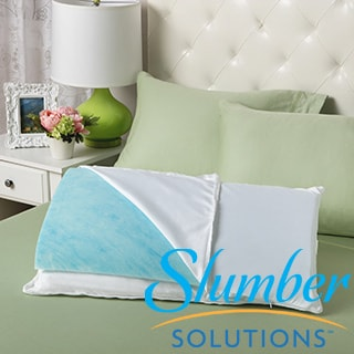 Slumber Solutions Gel Reversible Memory Foam/ Fiber Sleep Pillow