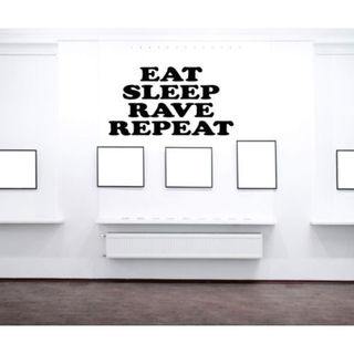 Eat Sleep Rave Repeat Kids Room Children Stylish Wall Art Sticker Decall size 22x22 color Black