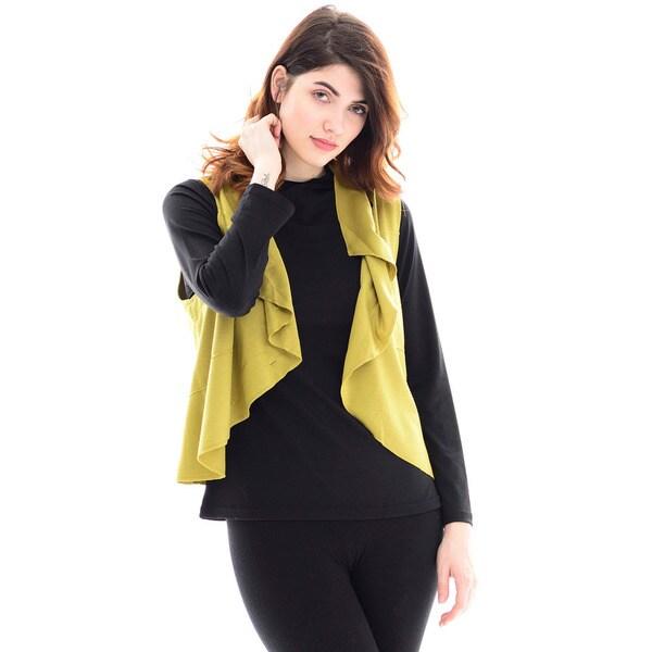 Trisha Tyler Women's Lime Green Short Vest