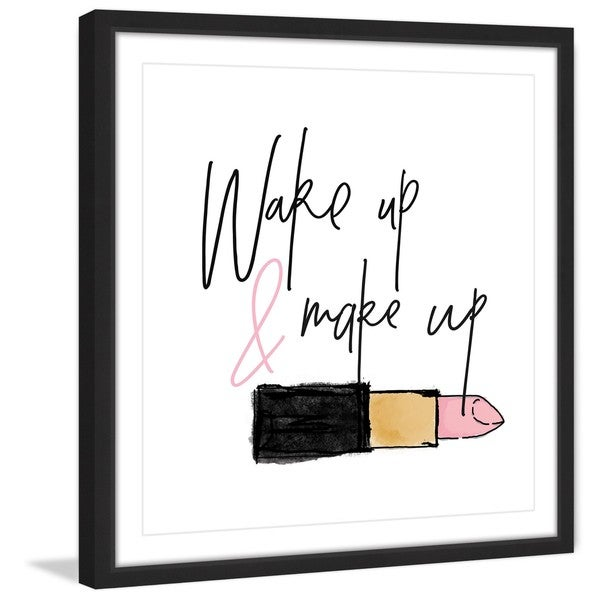 Marmont Hill - 'Wake Up Make Up' by Shayna Pitch Framed Painting Print
