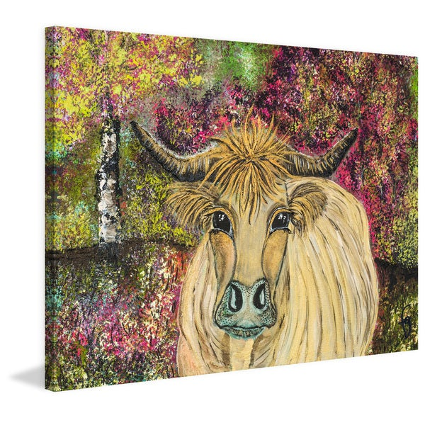 Marmont Hill - 'Goldie Coo' by France Gilbert Painting Print on Wrapped Canvas
